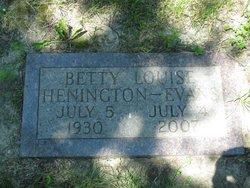 Betty Louise <i>Henington</i> Evans