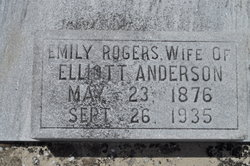 Emily Emmie <i>Rogers</i> Anderson