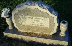 Alice Rebecca <i>Lee</i> Baird
