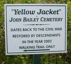 Yellow Jacket John Bailey Cemetery