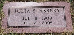 Julia Elizabeth <i>Hollingsworth</i> Asbery
