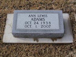 Ann <i>Lewis</i> Adams