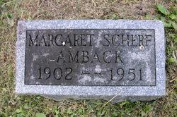 Margaret <i>Scherf</i> Amback