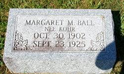 Margaret <i>Kohr</i> Ball