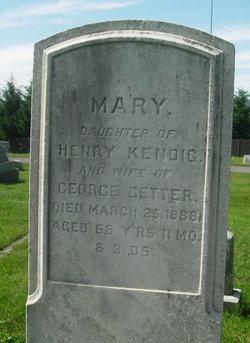 Mary <i>Kendig</i> Getter