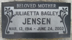 Juliaetta <i>Bagley</i> Jensen