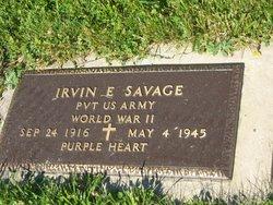 Pvt Irvin E. Savage