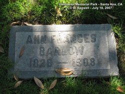 Ann Frances Barlow