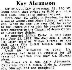 Kay August Abramson