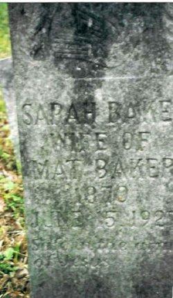 Sarah <i>Gray</i> Baker