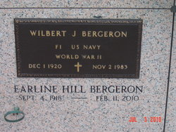 Wilbert J Lucky Bergeron, Sr