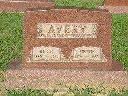 Mettie Sidney Nettie <i>Dorris</i> Avery