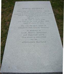 Maria <i>Lloyd</i> Hemsley