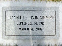 Elizabeth Tibby <i>Ellison</i> Simmons