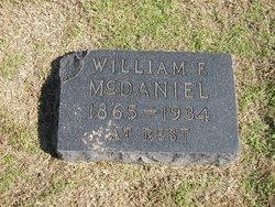William Billy F McDaniel