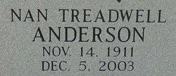 Nannie Mae <i>Treadwell</i> Anderson