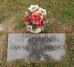 Frances Jean <i>Irby</i> Armbruster