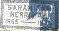 Sarah Ann <i>Graham</i> Herriman
