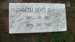 Elizabeth <i>Doss</i> Blanton
