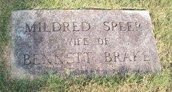 Mildred <i>Speer</i> Brake