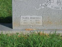 Clara Belle <i>Hemphill</i> Anderson