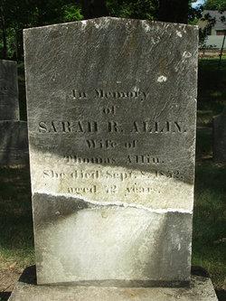 Sarah R <i>Paine</i> Allin