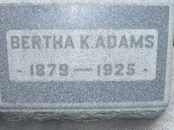 Bertha K <i>Stephens</i> Adams