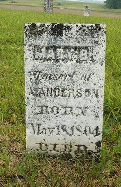 Mary <i>Banta</i> Anderson