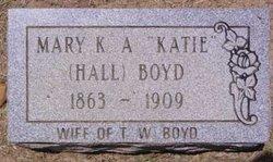 Mary K A Katie <i>Hall</i> Boyd