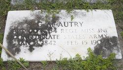Pvt George Monroe Autry