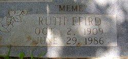 Ruth Lucenia <i>Efird</i> Elam