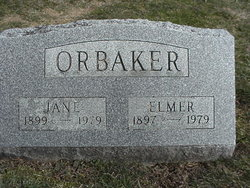 Elizabeth Jane Jane <i>Lawrence</i> Orbaker