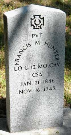 Pvt Francis Marion Hunter