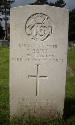 Private Frederick F Bones