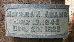 Matilda J. <i>German</i> Adams