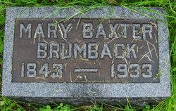 Mary Baxter Mollie <i>Overstreet</i> Brumback