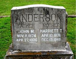 Harriett Temperence <i>Doak</i> Anderson