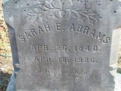 Sarah E. <i>Peacock</i> Abrams