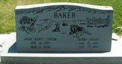 Anna Ranee <i>Taylor</i> Baker