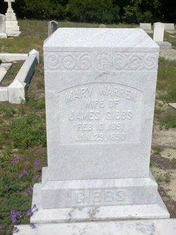 Mary <i>Warren</i> Gibbs