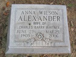 Anna Wilson <i>Alexander</i> Whitney