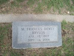 M Frances <i>Dewey</i> Bryson