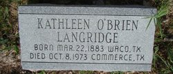 Maggie Catherine Aunt Kathleen <i>O'Brien</i> Langridge