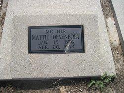 Mattie Belle <i>Garner</i> Devenport