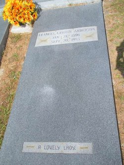 Frances Isabell <i>Griffin</i> Anderson