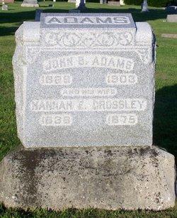 Hannah E <i>Crossley</i> Adams
