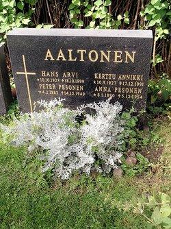Kerttu Annikki <i>Pesonen</i> Aaltonen