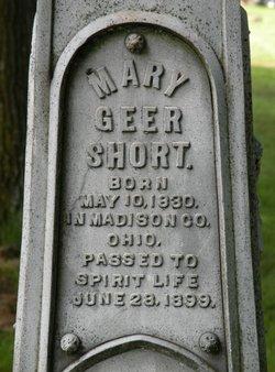 Mary <i>Geer</i> Short