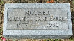 Elizabeth Jane <i>Graves</i> Barker