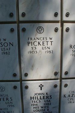 Seaman Frances W Pickett